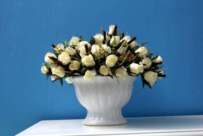Hoa lụa cắm bình 01