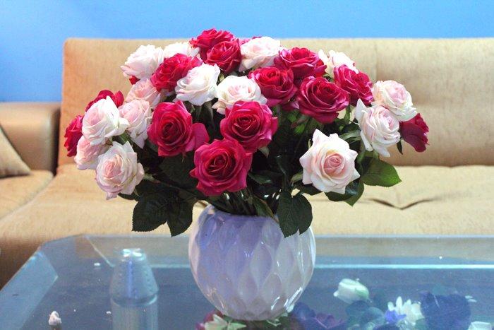 Hoa lụa cắm bình 02
