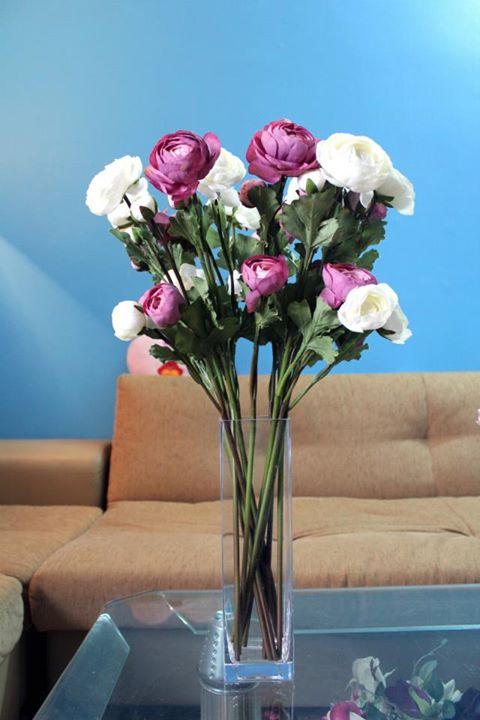 Hoa lụa cắm bình 04