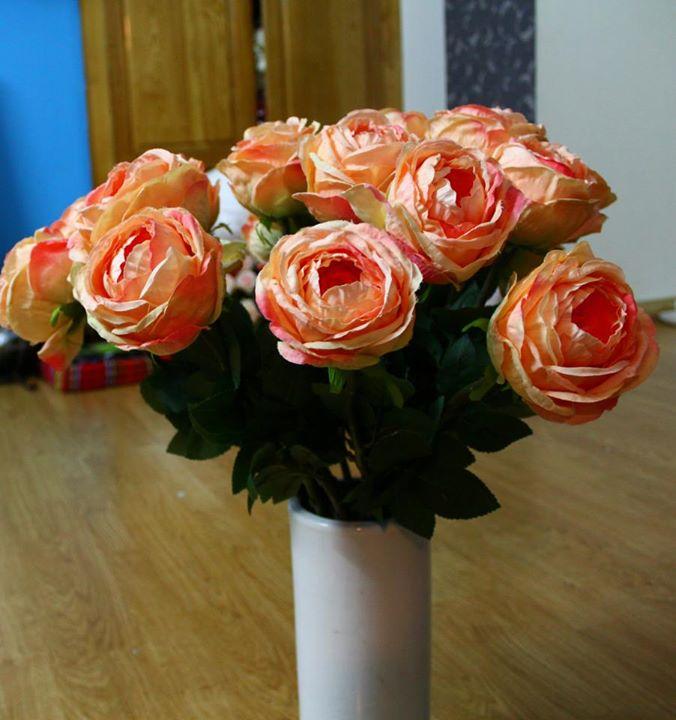 Hoa lụa cắm bình 05