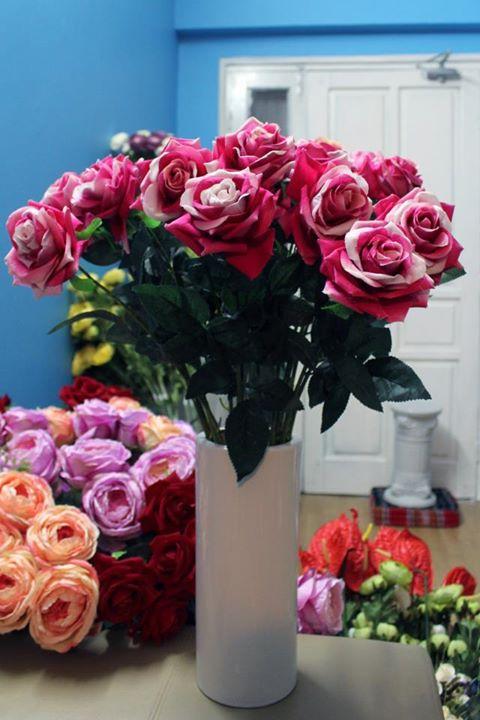 Hoa lụa cắm bình 09