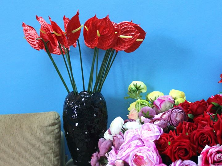 Hoa lụa cắm bình 14