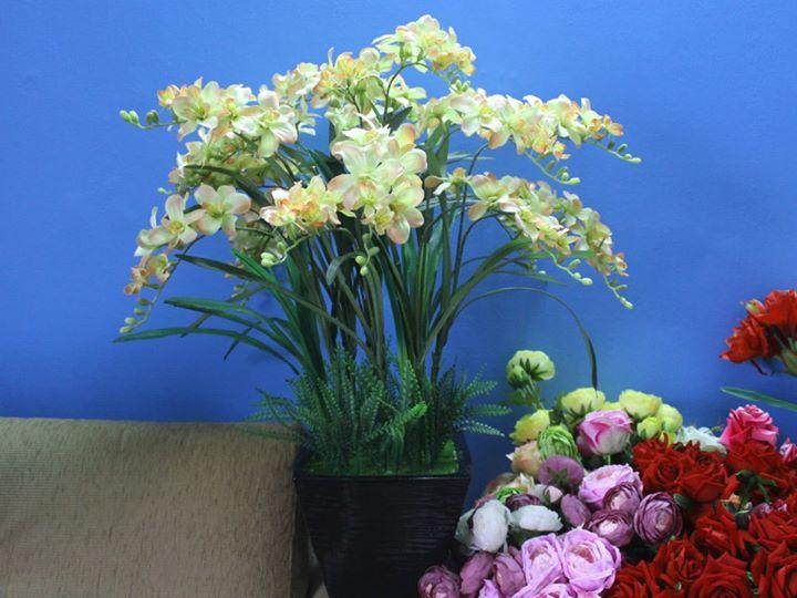 Hoa lụa kiểu cây 02