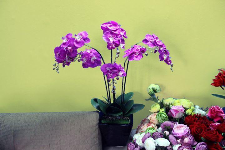 Hoa lụa kiểu cây 03