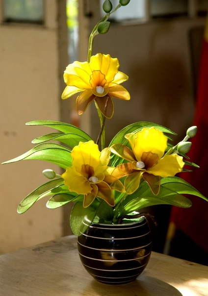 Hoa lụa kiểu cây 07