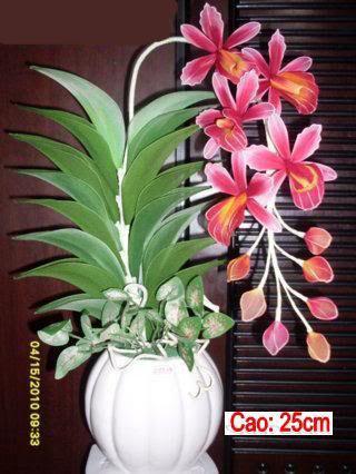 Hoa lụa kiểu cây 14