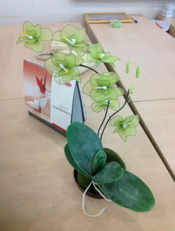 Hoa lụa kiểu cây 63