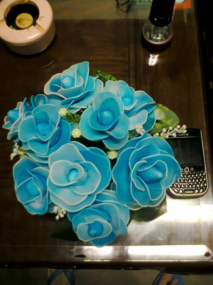 Hoa lụa kiểu cây 64