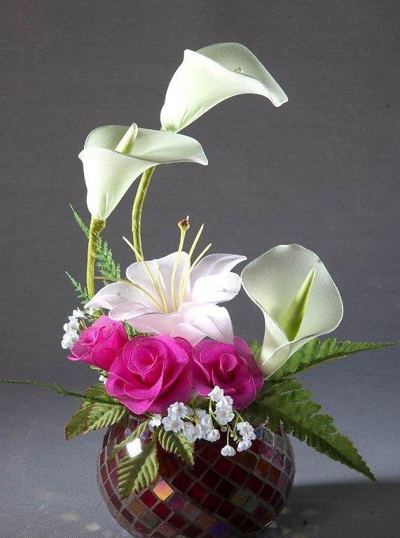 Hoa lụa kiểu cây 65