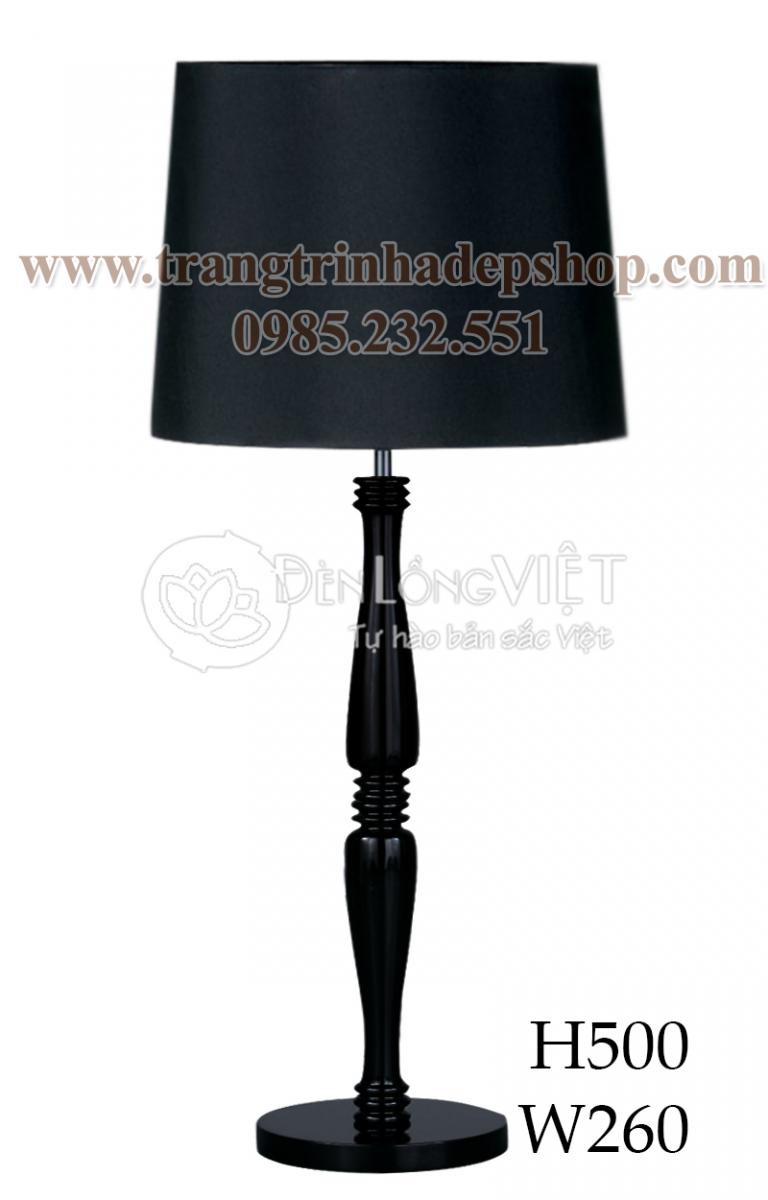 Đèn để bàn chân đế gỗ mẫu 142