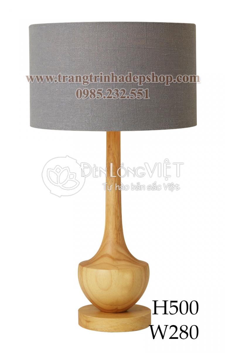 Đèn để bàn chân đế gỗ mẫu 145