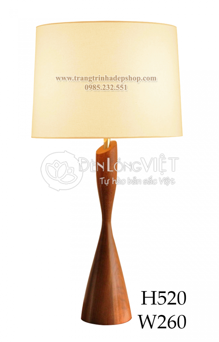 Đèn để bàn chân đế gỗ mẫu 147