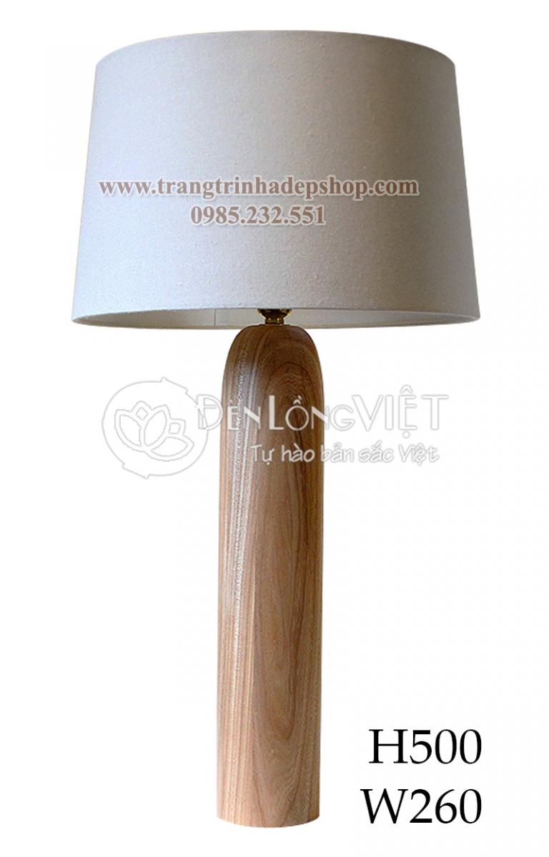 Đèn để bàn chân đế gỗ mẫu 148