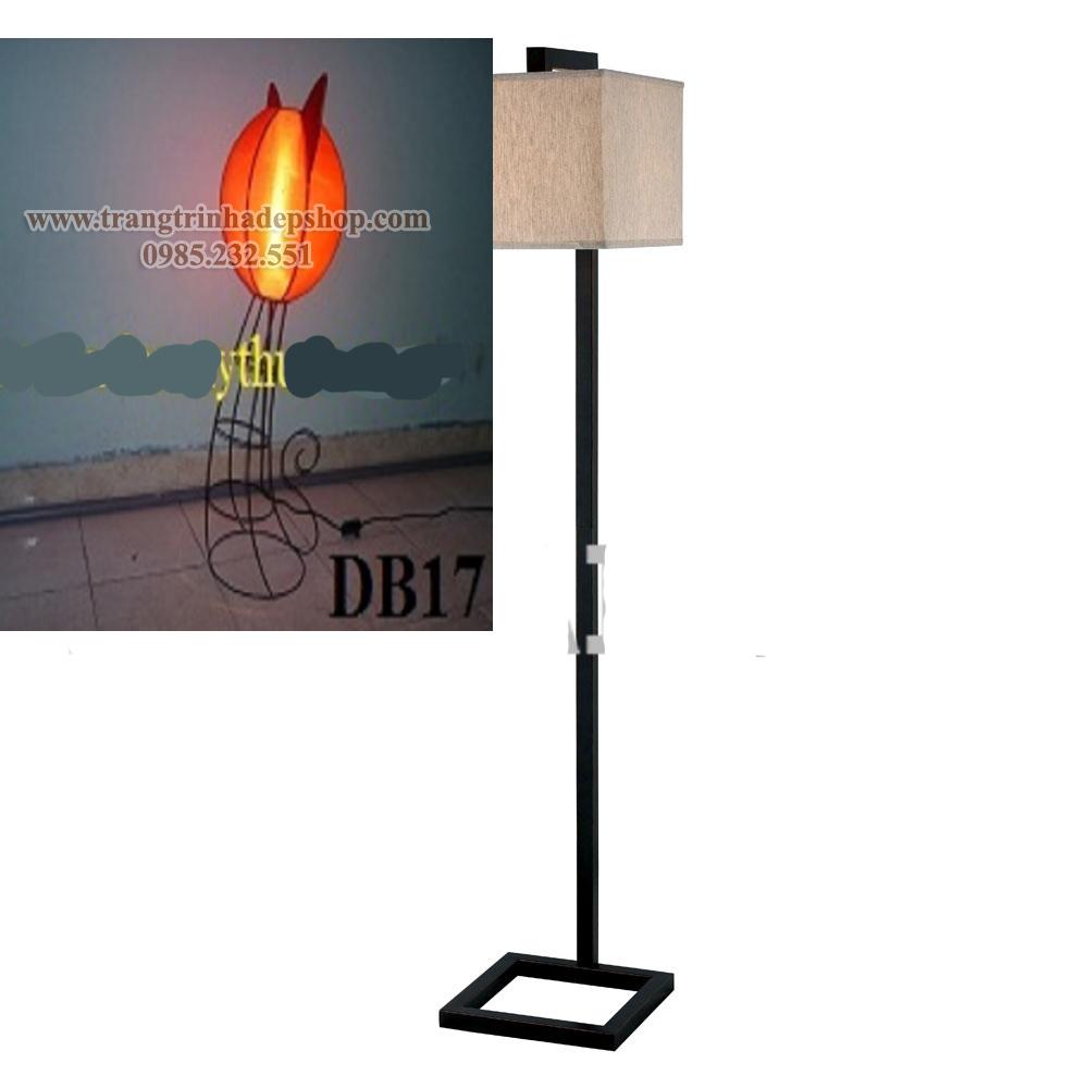 Đèn cây chân sắt, inox mẫu 03