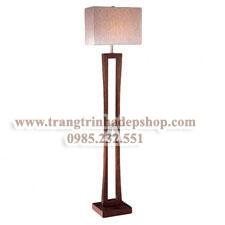 Đèn cây chân gỗ mẫu 11