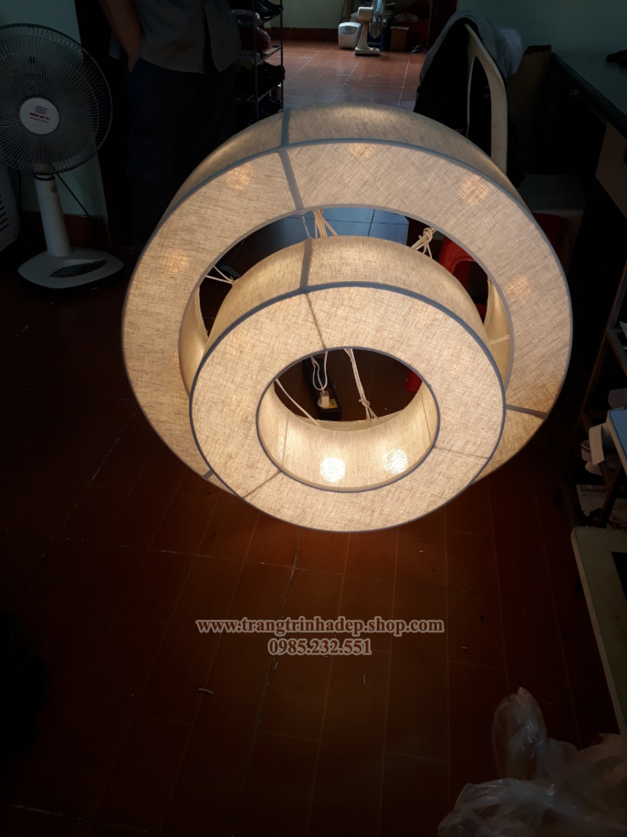 Đèn lụa thả trần trang trí mẫu 41