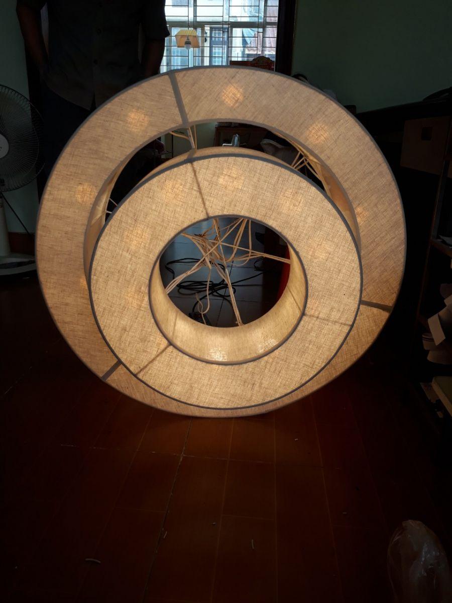 Đèn lụa thả trần trang trí mẫu 42