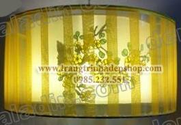 Đèn vải thả trần vẽ tay mẫu 08