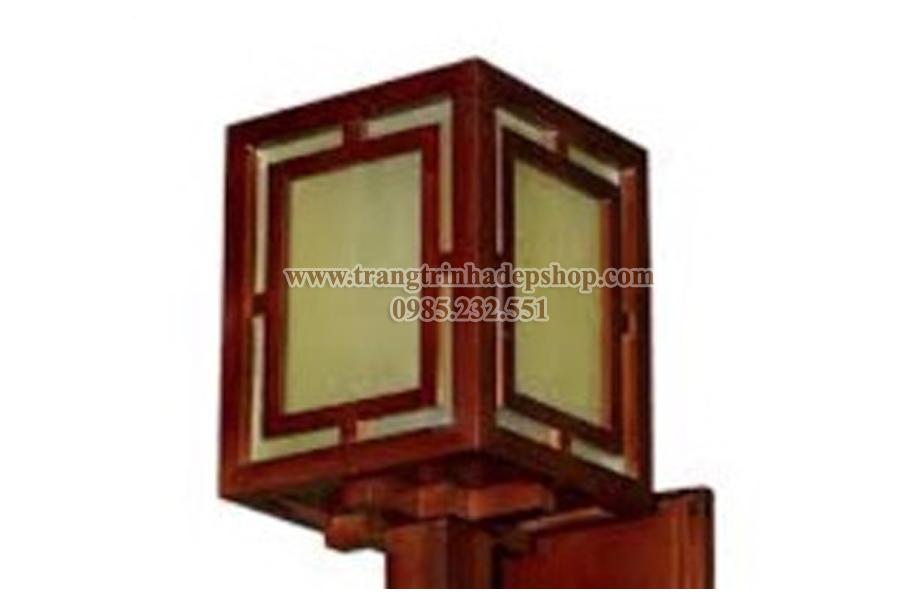 Đèn ốp tường khung gỗ mẫu 07