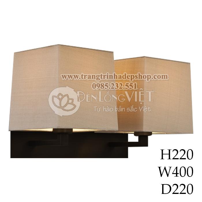 Đèn ốp tường khung gỗ mẫu 13