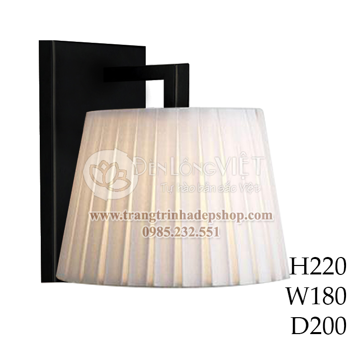 Đèn ốp tường khung gỗ mẫu 16