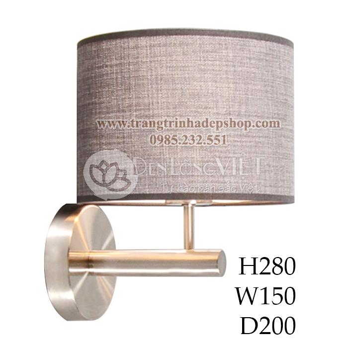 Đèn ốp tường khung sắt, inox mẫu 05