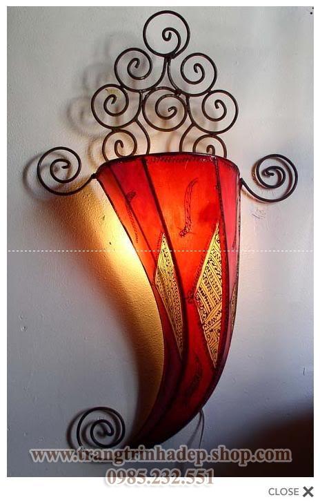 Đèn ốp tường khung sắt, inox mẫu 13