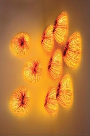 Đèn vải nhăn ốp tường mẫu 03