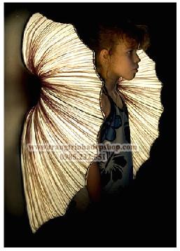Đèn vải nhăn ốp tường mẫu 08