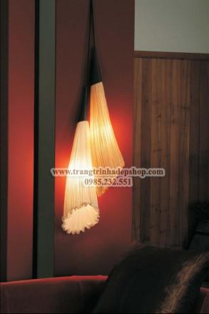Đèn vải nhăn ốp tường mẫu 12