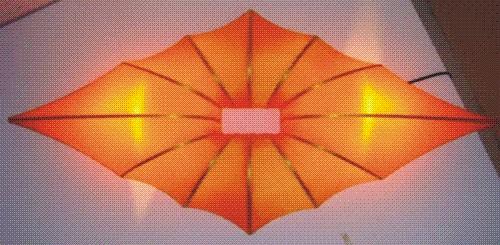 Đèn vải nhăn thả trần mẫu 111