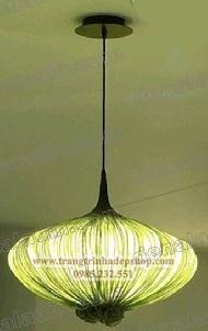 Đèn vải nhăn thả trần mẫu 19